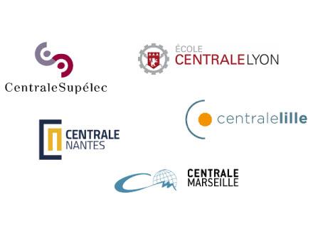 Centrale Supélec, Ecole centrale Lyon, Centrale Nantes, Centrale Lille, Centrale Marseille